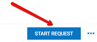 Kronos: An arrow pointing to the Start Request button